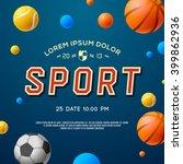 sport concept background ... | Shutterstock .eps vector #399862936