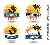 summer holidays design elements ... | Shutterstock .eps vector #399864526