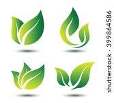 Green Leaf Eco Symbol Set ...