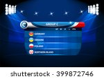 european football championship... | Shutterstock .eps vector #399872746
