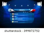 european football championship... | Shutterstock .eps vector #399872752