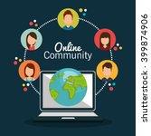 online community design  | Shutterstock .eps vector #399874906