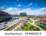 view of buildings and light... | Shutterstock . vector #399880015