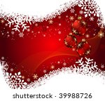 abstract christmas background | Shutterstock .eps vector #39988726