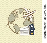 airplane and travel icon design | Shutterstock .eps vector #399892486