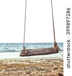 swing on the beach background | Shutterstock . vector #399897286