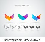 v company vector logo sign and... | Shutterstock .eps vector #399903676