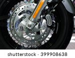 motorcycle front wheel and... | Shutterstock . vector #399908638