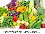 asian vegetables background.... | Shutterstock . vector #399910432