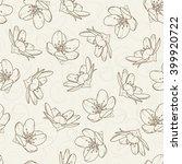cherry blossom flowers seamless ...   Shutterstock .eps vector #399920722
