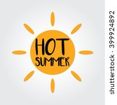 sun summer | Shutterstock .eps vector #399924892