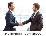 positive business partners... | Shutterstock . vector #399925006