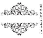 vintage baroque frame scroll... | Shutterstock .eps vector #399925702
