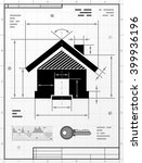 home symbol as technical...   Shutterstock .eps vector #399936196