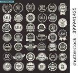 sale retro vintage badges and...   Shutterstock .eps vector #399941425