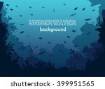 underwater background with... | Shutterstock .eps vector #399951565