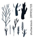 trees isolated hand drawn | Shutterstock . vector #399952735