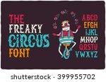 the freaky circus font with... | Shutterstock .eps vector #399955702