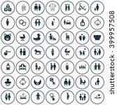 set of forty nine family icon | Shutterstock .eps vector #399957508