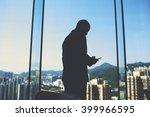 silhouette of a man smart...   Shutterstock . vector #399966595