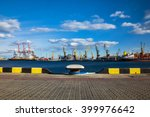 Industrial Port With Container...