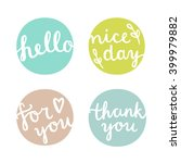 set of nice gift tags. vector... | Shutterstock .eps vector #399979882