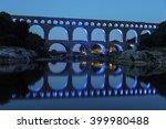 Pont Du Gard At Night. Vers...