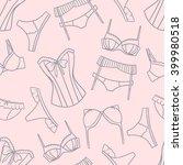 big collection of women's bras... | Shutterstock .eps vector #399980518