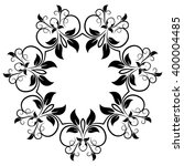 black round ornament with... | Shutterstock .eps vector #400004485