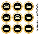 car icons gold icon set. raster ... | Shutterstock . vector #400005436
