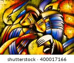 oil painting   abstract face | Shutterstock . vector #400017166