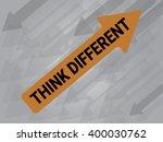 thinking differrent on arrow ...   Shutterstock .eps vector #400030762