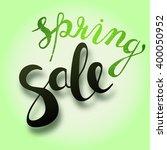 sale hand lettering design....   Shutterstock . vector #400050952