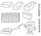 vector set of brick | Shutterstock .eps vector #400057192