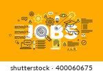 thin line flat design banner... | Shutterstock .eps vector #400060675