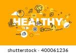 thin line flat design banner... | Shutterstock .eps vector #400061236
