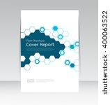 vector design for cover report... | Shutterstock .eps vector #400063522