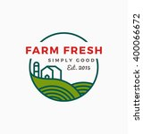 agriculture and farm logo... | Shutterstock .eps vector #400066672