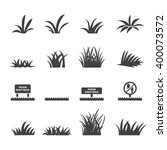grass icon set | Shutterstock .eps vector #400073572