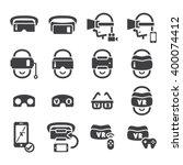virtual reality icon | Shutterstock .eps vector #400074412