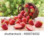 Fresh Ripe Strawberries In...