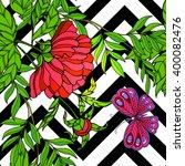 tropical forest seamless... | Shutterstock .eps vector #400082476