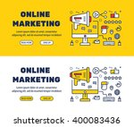 flat line icons design of... | Shutterstock .eps vector #400083436