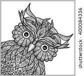 coloring book for adult and... | Shutterstock .eps vector #400084336