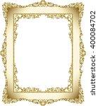 gold photo frame with corner... | Shutterstock .eps vector #400084702