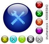 set of color tools glass web...