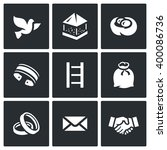 Vector Set Of Dovecote Icons....