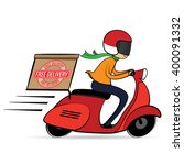 free delivery cartoon  free... | Shutterstock .eps vector #400091332