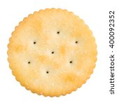golden round cracker isolated...   Shutterstock . vector #400092352
