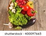 vegetables . fresh bio... | Shutterstock . vector #400097665